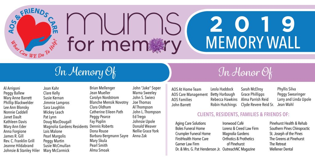 Mums for Memory Banner
